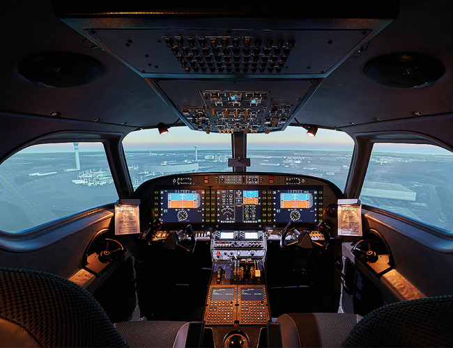Alsim ALX Cockpit View