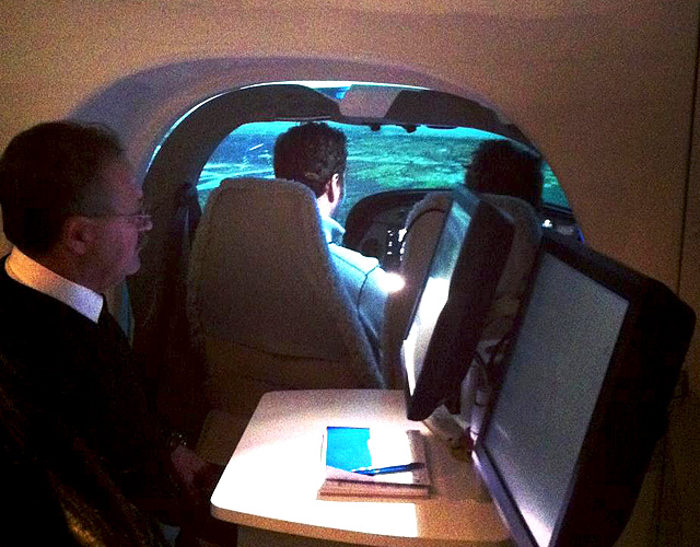 DA42 FNPT II View from instructor station